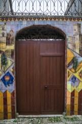 monreale - erice drzwi kolorowe płytki