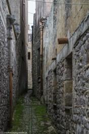 monreale - erice wąska uliczka