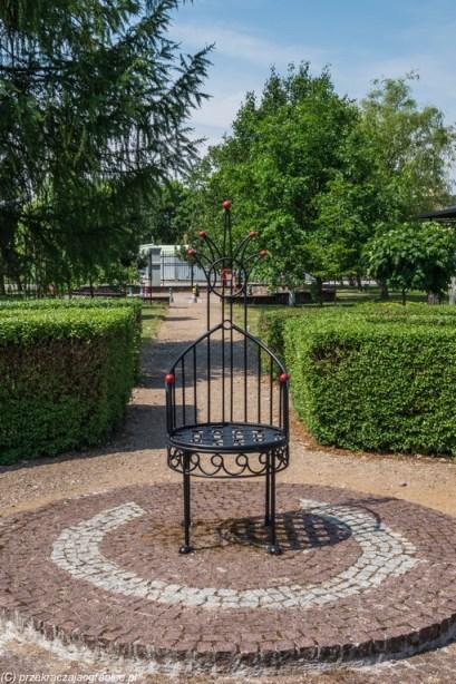 park krzesło metalowe tron suwałki