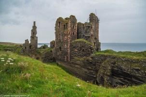 Castle Sinclair Girnigoe - mury zamkowe