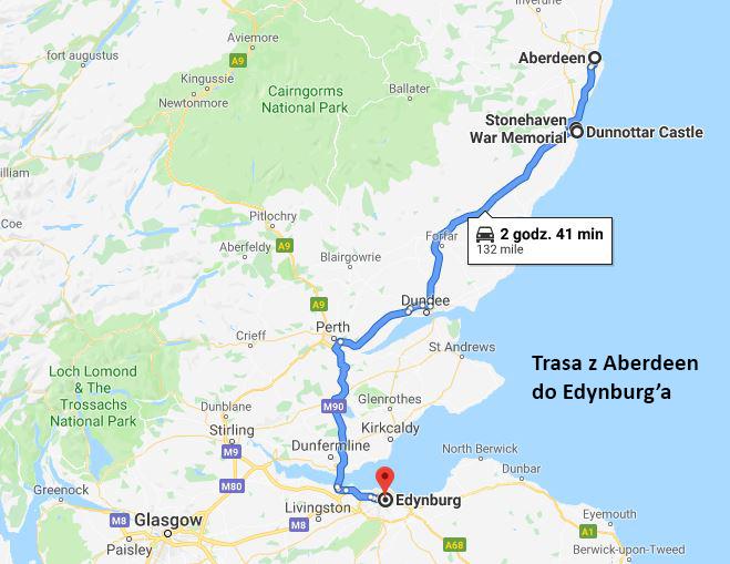 Trasa do tekstu Edynburg w jeden dzień