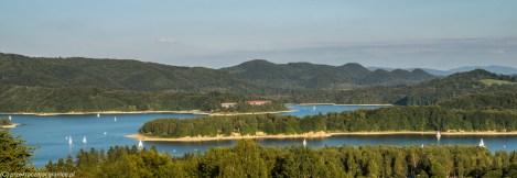 Jezioro Solińskie - panorama Bieszczadów