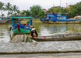 środkowy wietnam - hoi an rzeka łodzie