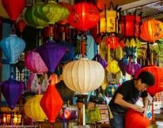 środkowy wietnam - hoi an lampiony zakupy