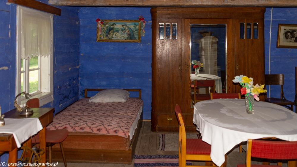 Skansen w Maurzycach - wnętrze chaty