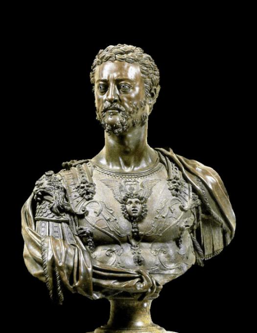 Kosma I popiersie Celliniego