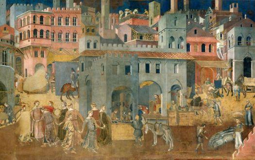 Efekty dobrego rzadu, Lorenzetti, Siena