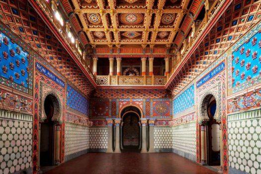 Sammezzano zamek w Toskanii, salon wejsciowy