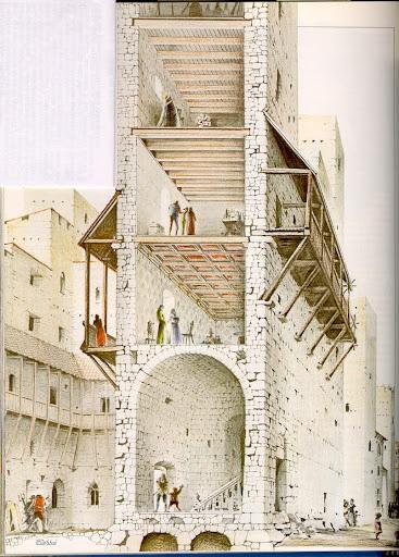 Domy wieże we Florencji widok od wewnątrz