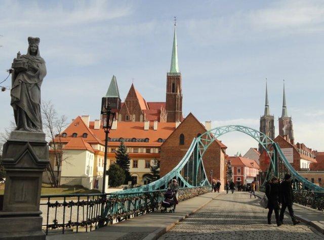 Architektura Wrocławia - Most Tumski znany też jako Most Zakochanych