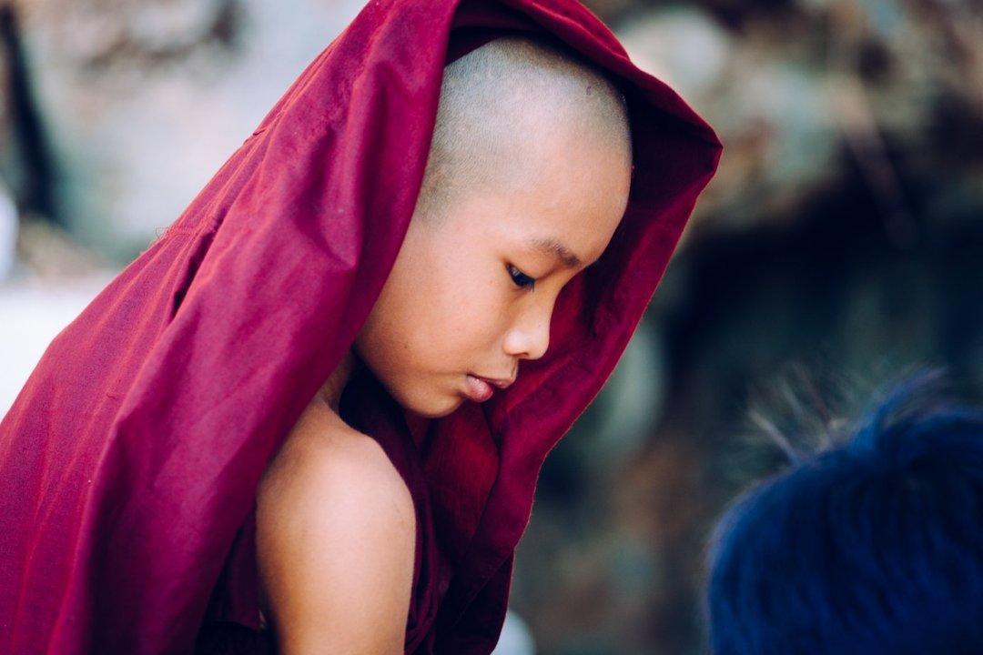 Mnich buddyjski wMyanmarze