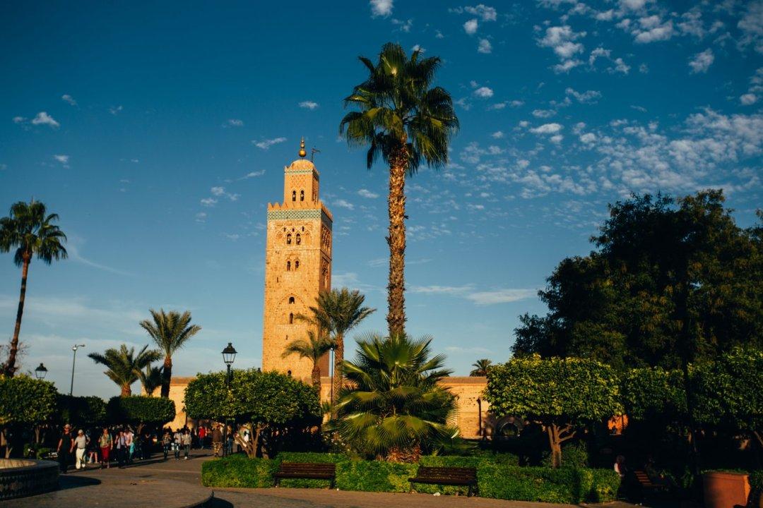 Minaret meczetu Kutubijja wMarrakeszu