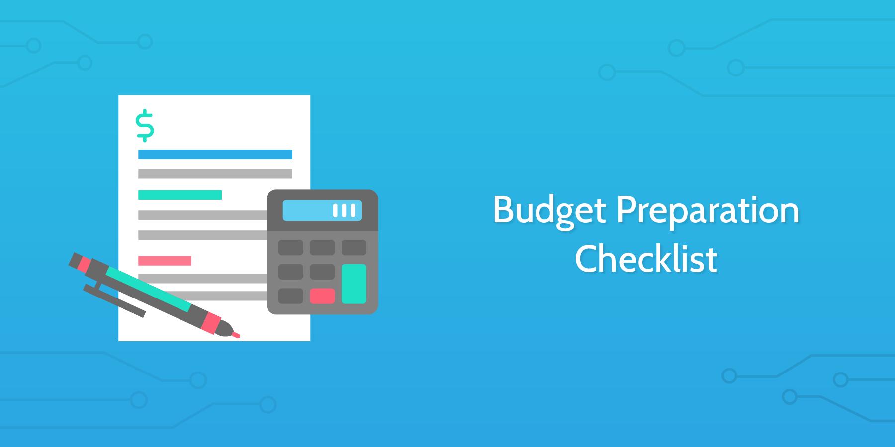 Budget Preparation Checklist