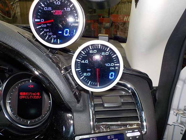 CX-5 追加メーター 油圧計取付
