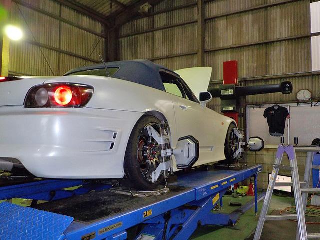 AP1 S2000 ブレーキパッド交換 四輪アライメント