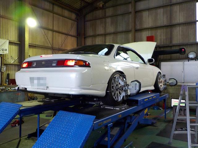 S14 シルビア タイヤ交換と四輪アライメント