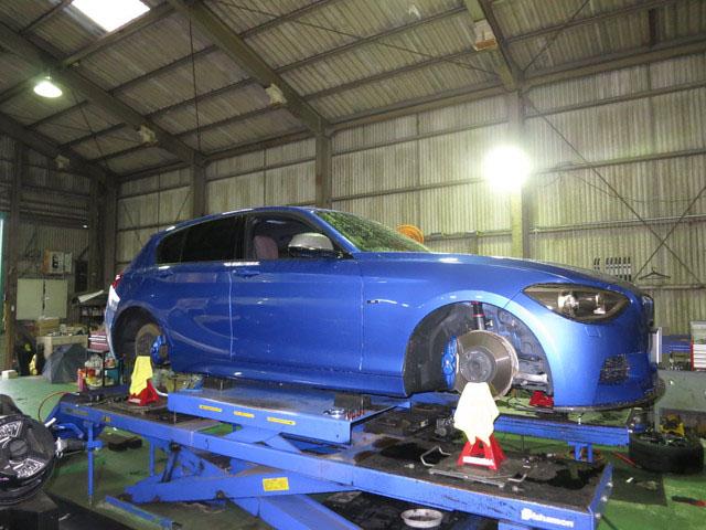 F20 BMW M135i 1G締め直し 四輪アライメント調整