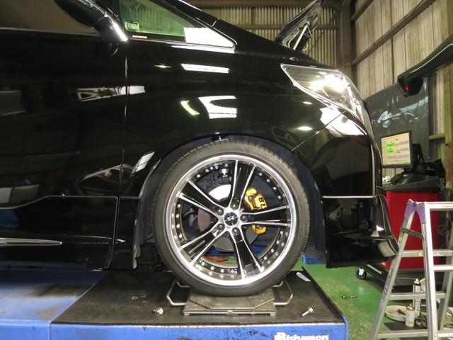 AGH30W アルファード タナベ車高調に交換 四輪アライメント調整
