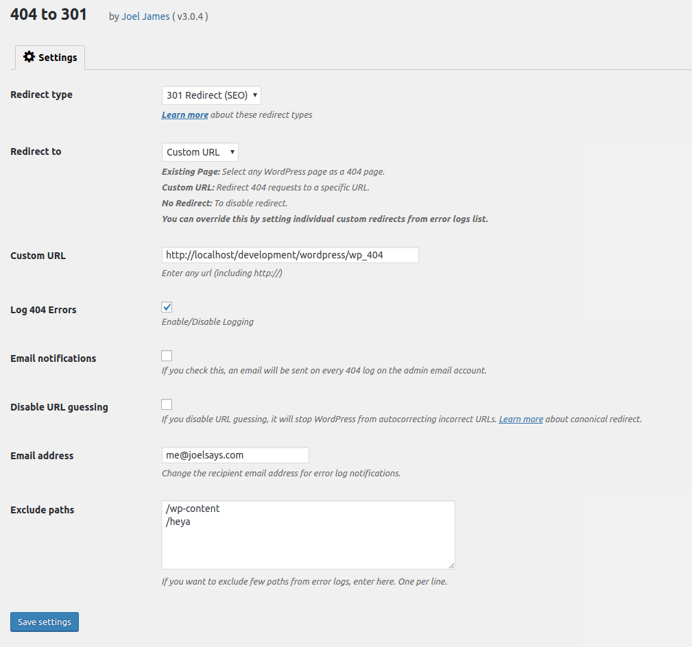 Wordpress Redirect