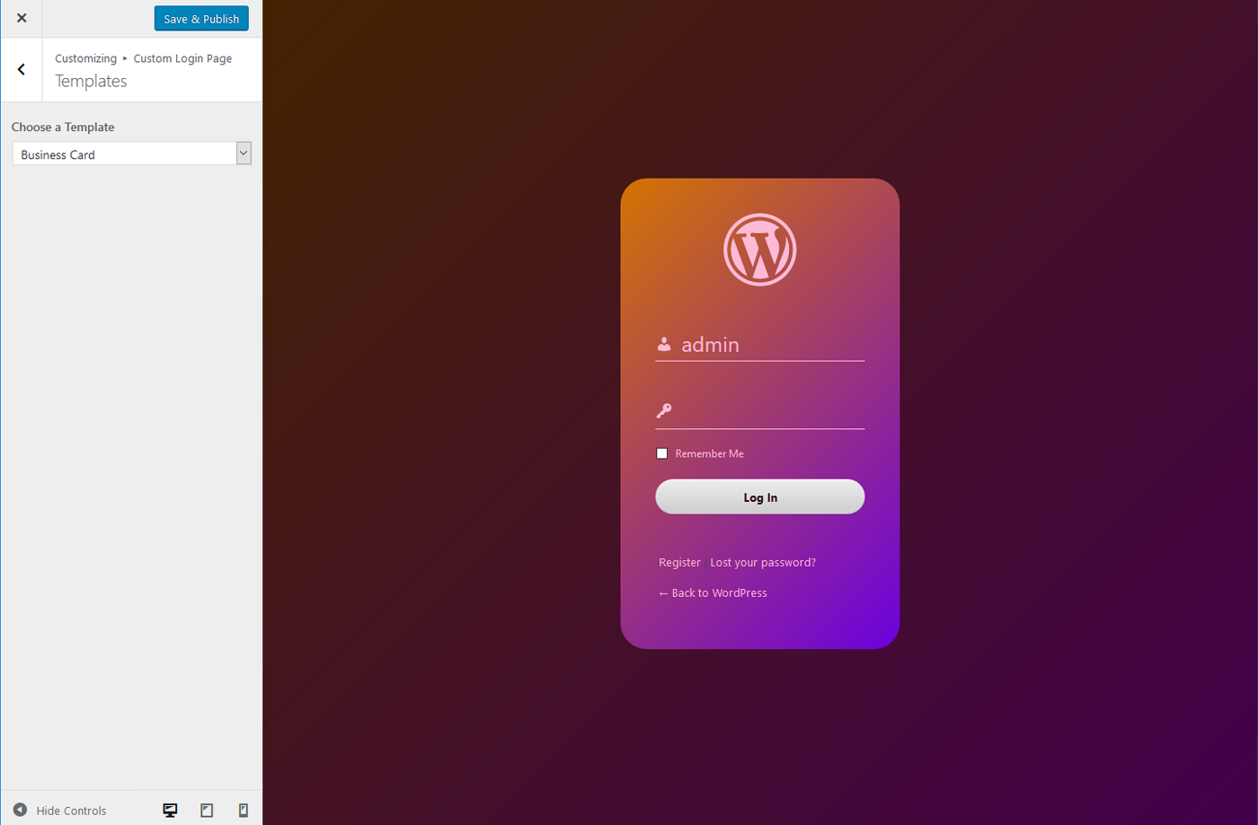 Custom Login Page Templates Change Logo Background And