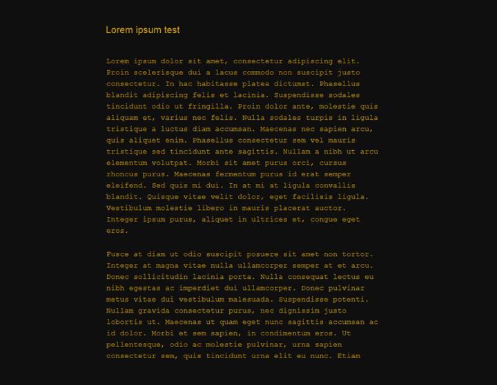 Distraction Free Writing mode Themes Screenshot