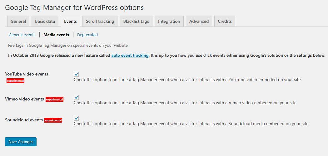 Google Tag Manager for WordPress Screenshot