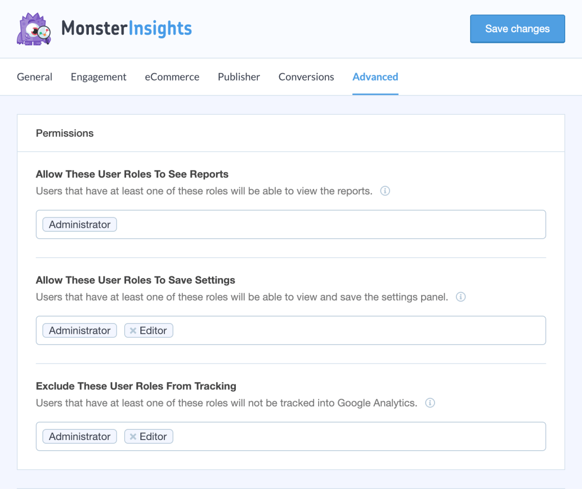 Google Analytics for WordPress by MonsterInsights Capture d'écran