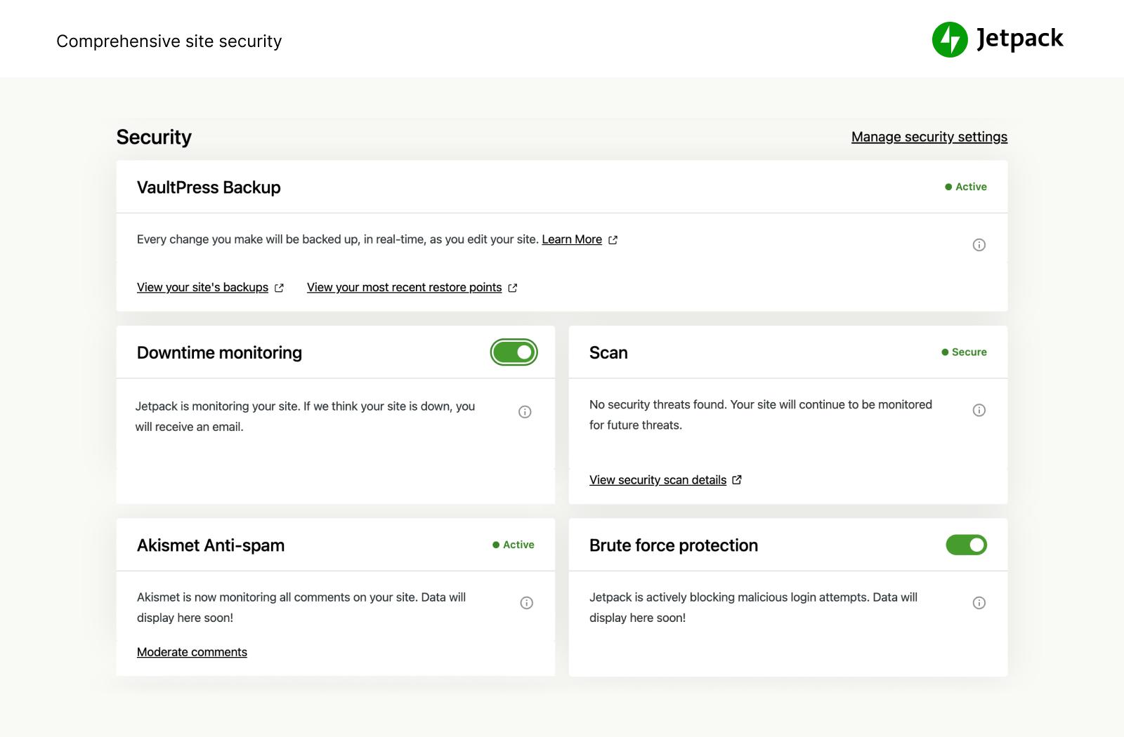 Jetpack by WordPress.com Capture d'écran