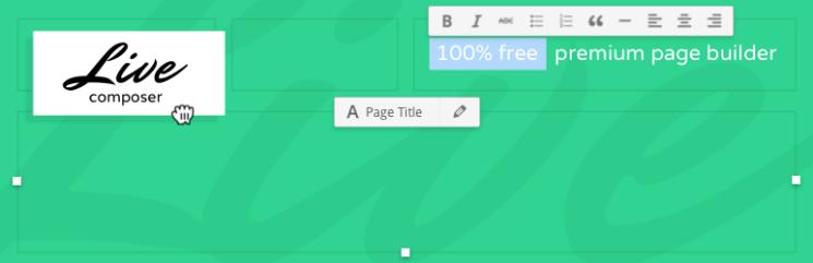 Page Builder: Live Composer - drag and drop website builder (visual front end site editor)