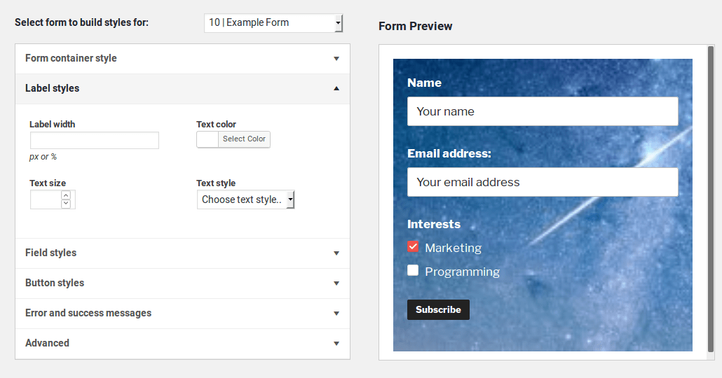 Mailchimp for WordPress Screenshot