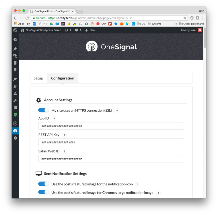 OneSignal – Free Web Push Notifications Screenshot