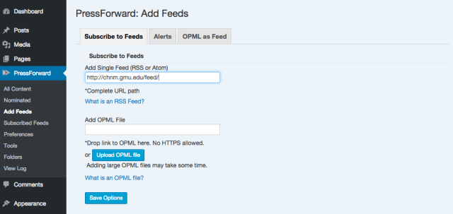 Add RSS/Atom Feeds to automatically aggregate content.