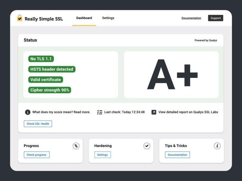 Really Simple SSL Screenshot