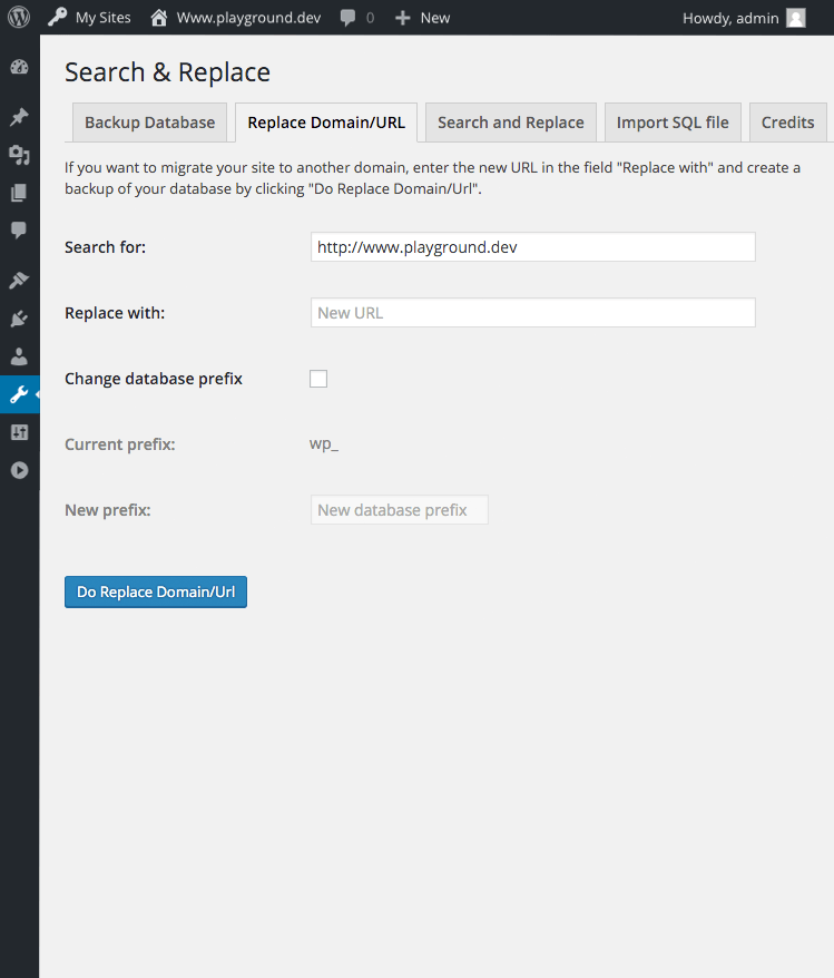 Search & Replace Screenshot