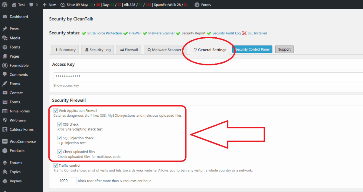Security & Malware scan by CleanTalk Screenshot