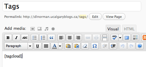 adding the shortcode to a page