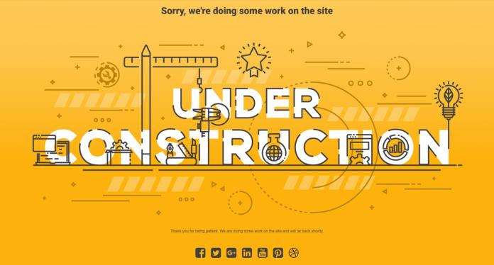 Under construction mode
