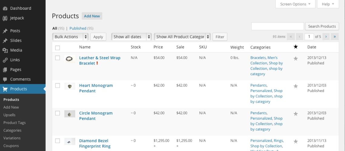 WP eCommerce Screenshot