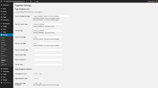 WP-PageNavi Screenshot