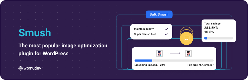 Smush Image Optimization, Compression, and Lazy Load