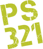 PS 321 logo lime green