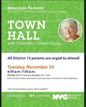 town hall with carmen