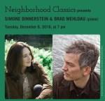 Tickets On Sale: Pianists Simone Dinnerstein and Brad Mehldau on December 6