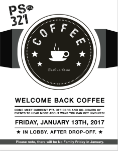 Welcome Back Coffee This Friday