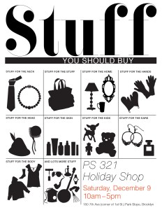 Save the Date for the PS 321 Holiday Shop: Stuff You Should Buy