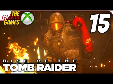 Прохождение Rise of the Tomb Raider на Русском XBOne — 15 (Жаркий бой)