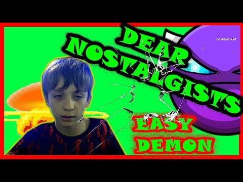 DEAR NOSTALGISTS/ EASY DEMON # 8/GEOMETRY DASH/75FPS/75 ГЕРЦ/NO HACKS/