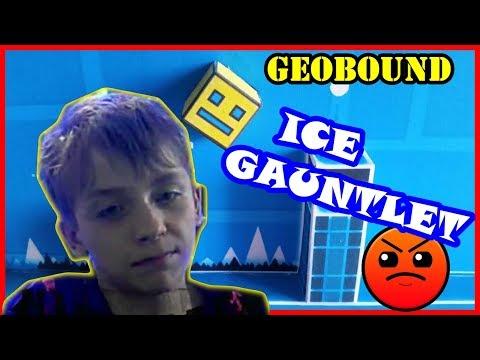 GEOBOUND of ICE GAUNTLET /GEOMETRY DASH/HARDER 6 ЗВЁЗД/75 FPS