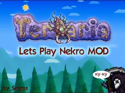 Lets Play Terraria NecroMod #5 Платиновый слизень и теневая броня
