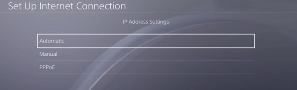 IP Address Settings Automatic